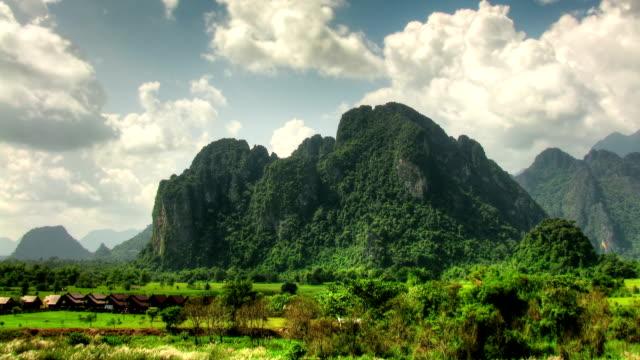 Rocky landscape time lapse video