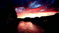 river rohne sunset video