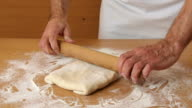 Roll out dough to rectangle. Making Puff Pastry Series. video