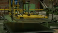 Rolled metal products at the plant. Metal sheet. video