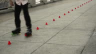 Roller Blades on cement video