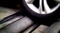 Roller brake tester. video