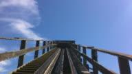 POV roller coaster video