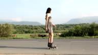 Roller skate woman video