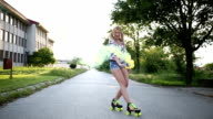 Roller skating and smoke video