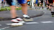 Roller skating - close up video