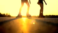 Rollerblading video