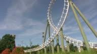 Rollercoaster looping video