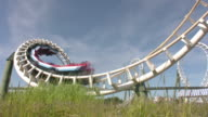Rollercoaster rollover HD video