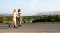 Roller-skate young woman video