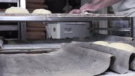 rolling and shaping dough baguette bread video