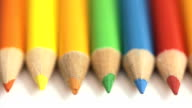 Rolling colored pencils video