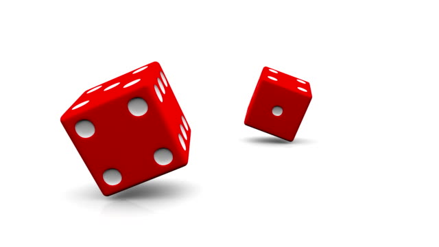 Rolling red dice video