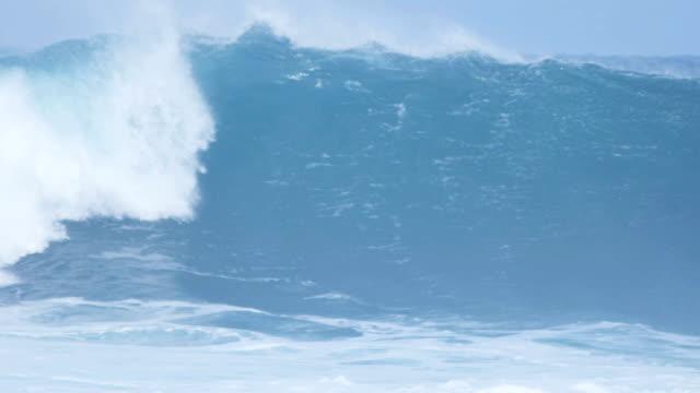 Rolling Surf Breaking Over Dangerous Rocks video