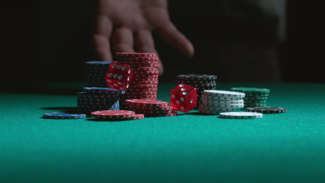 Rolling the dice in slow motion video