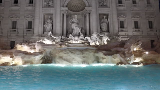 Roma city and Trevi fountain video