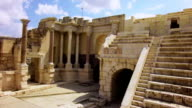 Roman amphitheater of ancient Samaria video