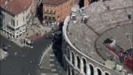 Roman Amphitheatre  - Aerial View - Veneto, Provincia di Verona, Verona, Italy video