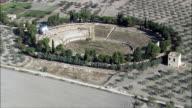 Roman Amphitheatre Lucera  - Aerial View - Apulia, Provincia di Foggia, Lucera, Italy video