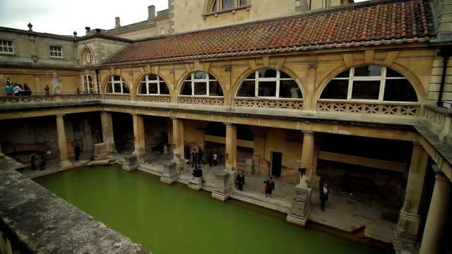 Roman Baths - Bath, England - Full Pan video
