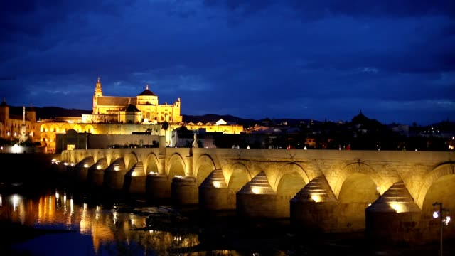 Roman Bridge and Mosque-Cathedral. Cordoba, Spain video
