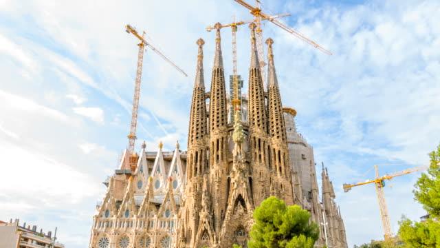 Roman catholic church, Barcelona, Catalonia video