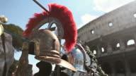 Roman Centurion Soldier Helmets and the Coliseum video