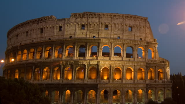 Roman Coliseum timelapse dusk video