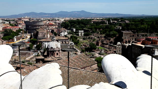 Roman Forum aerial view video