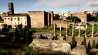 Roman Forum and Coliseum Panning Video HD video