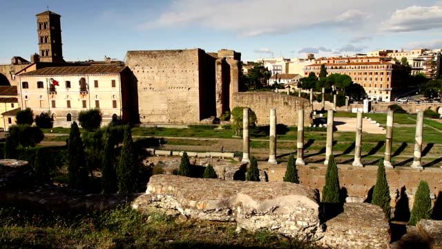 Roman Forum and Coliseum Panning Video HD video