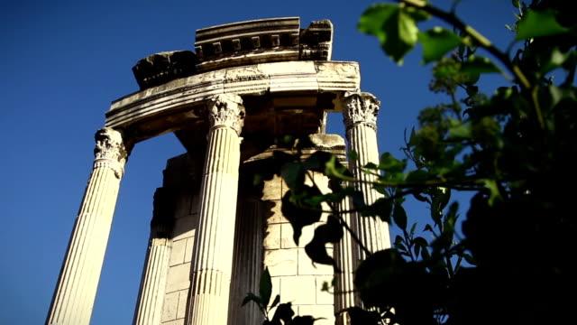 Roman Forum in Rome: The Temple of Vesta video
