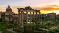 Roman Forum Timelapse at Sunrise, Rome Italy. video