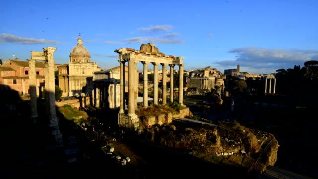 Roman Forum Timelapse at Sunset Video HD video