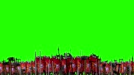 Roman Legion Battle Formations Standing In Front of an Army Before Battle on a Green Screen video