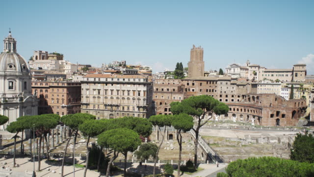 Roman old town. Panoramic view video