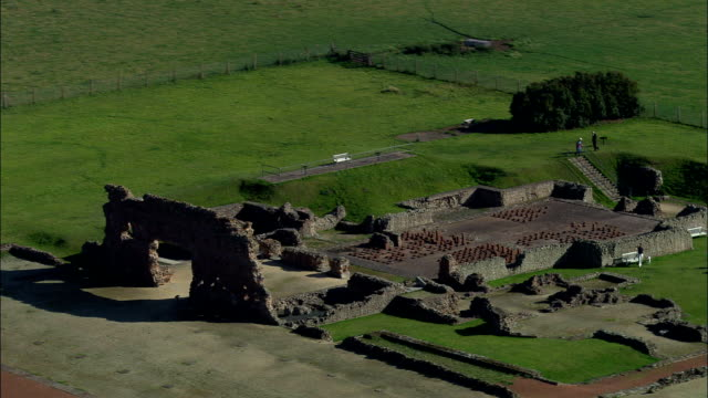 Roman Remains At Wroxeter  - Aerial View - England, Shropshire, Wroxeter and Uppington, United Kingdom video