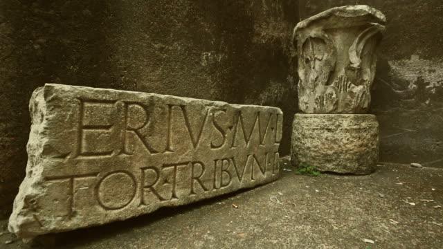 Roman ruins by Portico di Ottavia video