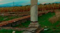 Roman Ruins of Sarmizegetusa in Deva, Romania - Ultra close-up shot video