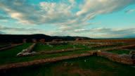Roman Ruins of Sarmizegetusa in Deva, Romania - Ultrawide Panning Shot video