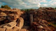 Roman Ruins of Sarmizegetusa in Deva, Romania - Wide Slider Shot video