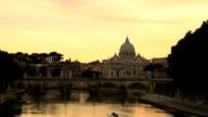 Roman sunset video