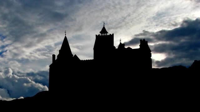 Romania Castle of Bran clouds video