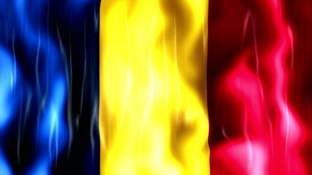 Romania Flag Animation video