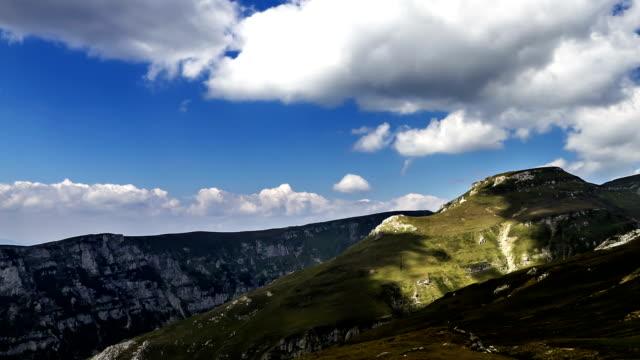 Romania mountain landscape time lapse video