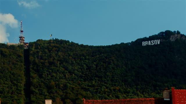 Romanian Town of Brasov - Landmark Mountain video