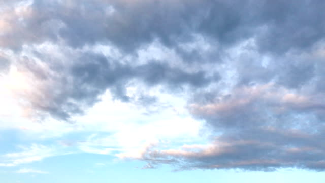 romantic blue sky with clouds video