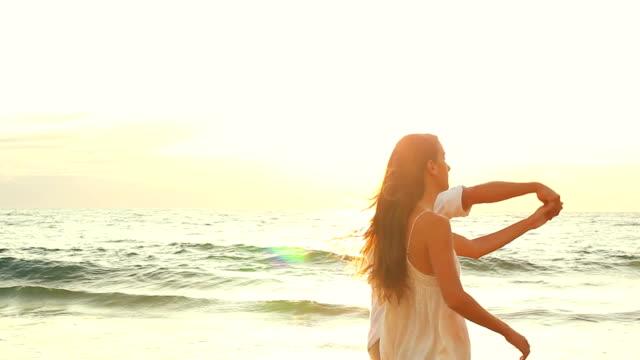 Romantic Couple Beach Walk video