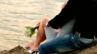 romantic couple by  lake video