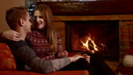 DS Romantic couple by the fireplace video